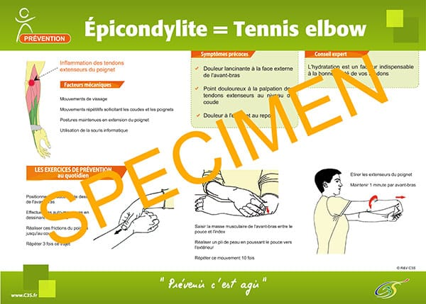affiche prévention épicondylite