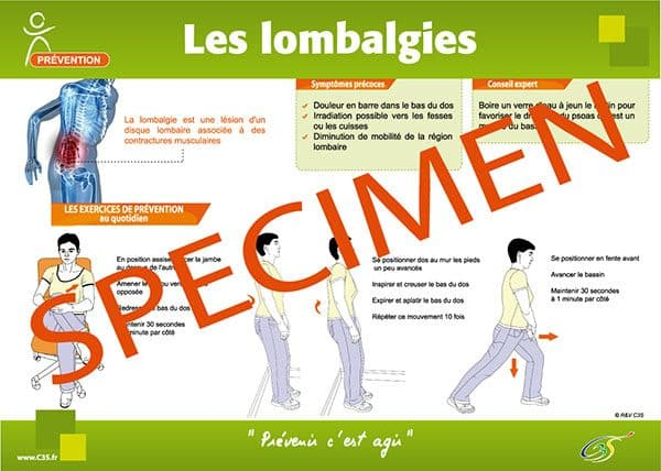 affiche prévention lombalgie
